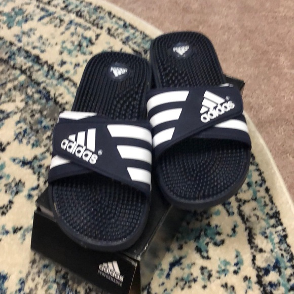 sale retailer bbe85 59548 adidas Other - ADISSAGE Navy Slide Size 10. Mens
